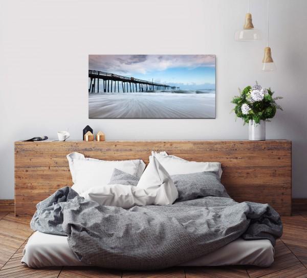 Brückenpfeiler im Wasser Wandbild in verschiedenen Größen