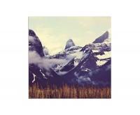 80x80cm Kanada Berge Schnee Wolken Natur