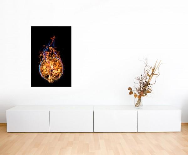 120x60cm Feuer Flammen Ball Kugel