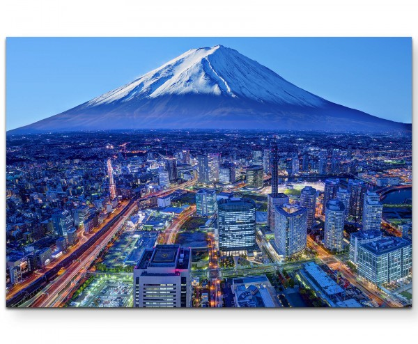 Skyline Mt. Fuji und Yokohama in Japan - Leinwandbild