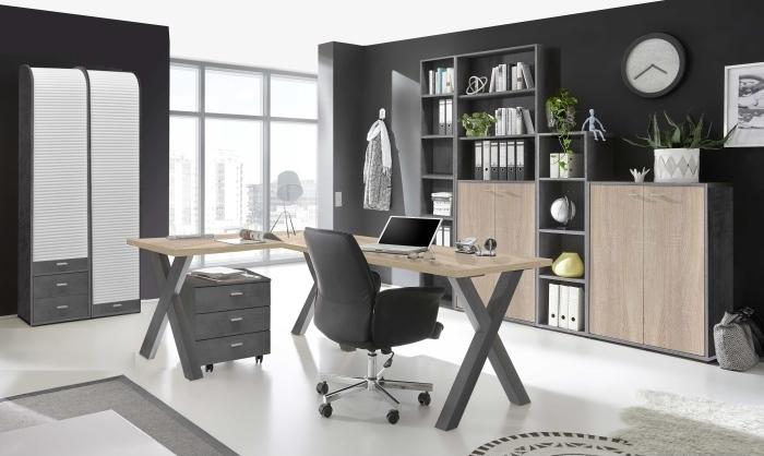 Büro Mister Office von Mäusbacher in Graphit- Eiche Sägerau zum Superpreis!