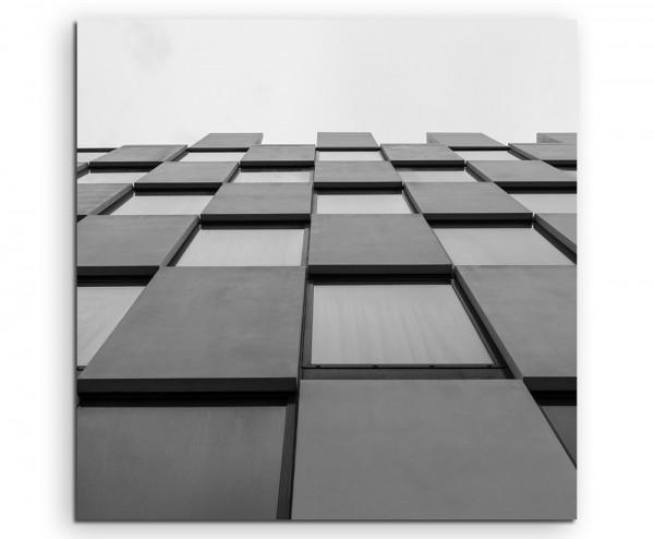 Architektur Fotografie – Glas und Beton auf Leinwand exklusives Wandbild moderne Fotografie für ihre