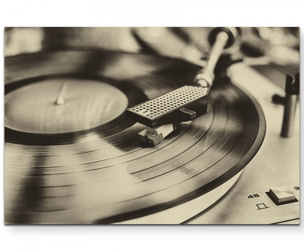 Vinylrekorder – Retro - Leinwandbild