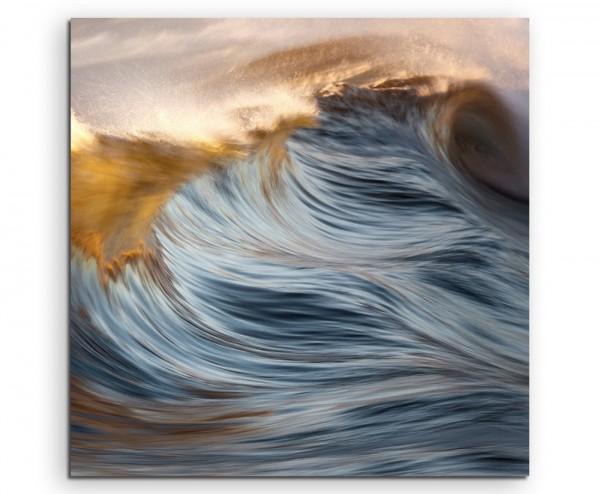 Stürmisches Meer auf Leinwand exklusives Wandbild moderne Fotografie für ihre Wand in vielen Größen