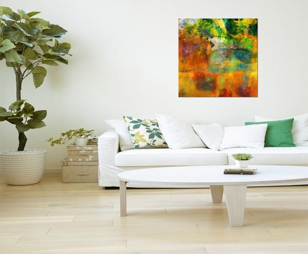 80x80cm Farben Malerei abstrakt farbenfroh