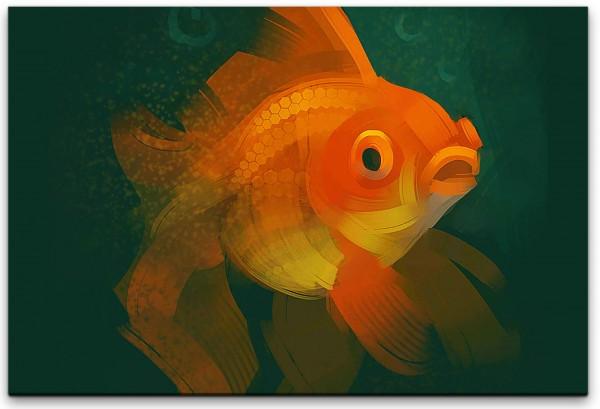 Goldfisch Wandbild in verschiedenen Größen
