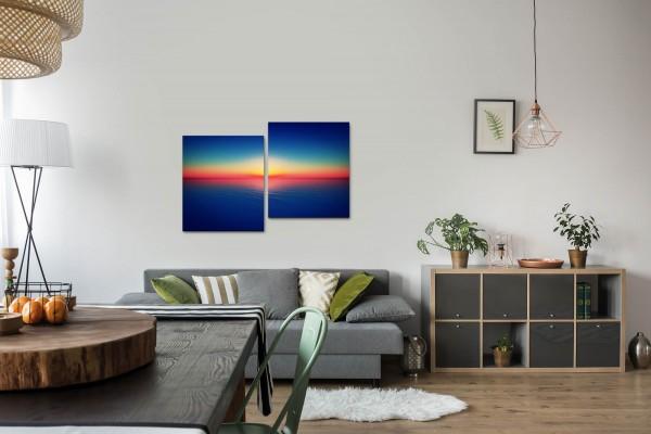 Sonnenuntergang über dem Meer Wandbild in verschiedenen Größen