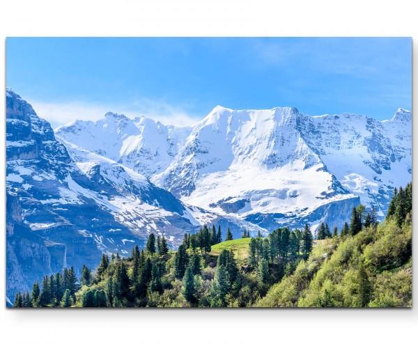 Alpenlandschaft in der Schweiz - Leinwandbild