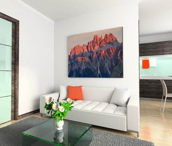 120x80cm Wandbild Italien Alpen Dolomiten Felsen