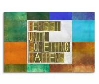 120x80cm Wandbild Hintergrund Geometrie Schrift Worte bunt