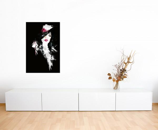 120x80cm Handmalerei Frau abstrakt