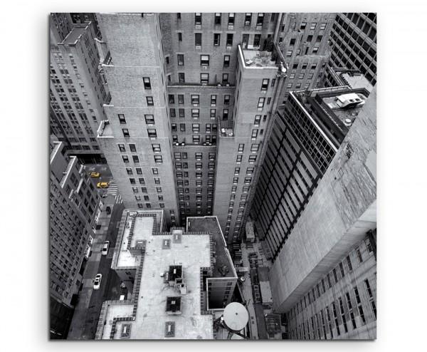 Urbane Fotografie - New York aus der Höhe auf Leinwand