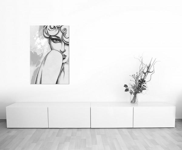 120x80cm Handmalerei Gemälde Frau Gesicht