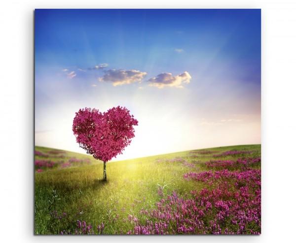 Künstlerische Fotografie – Baum der Liebe auf Leinwand