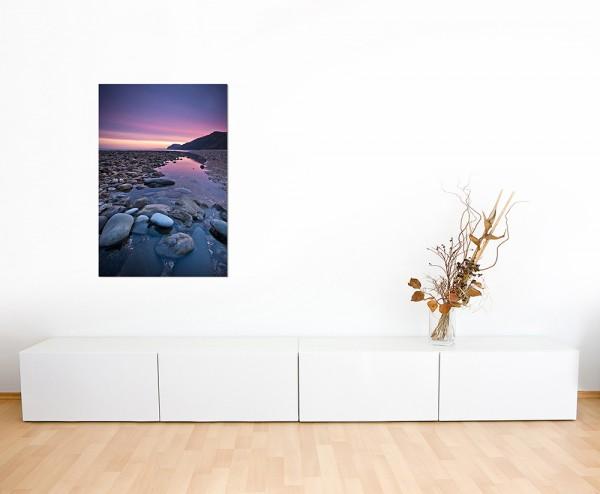 120x60cm Wasser Steine Sonnenaufgang England