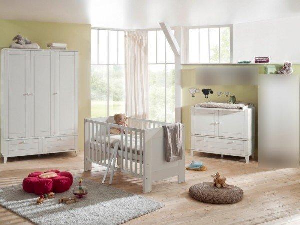 Babyzimmer Bella 3-teilig Weiß
