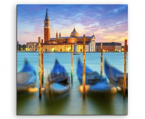 Landschaftsfotografie – Sonnenaufgang in Venedig, Italien auf Leinwand