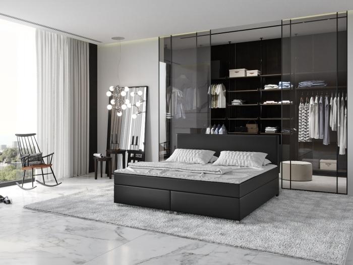 boxspringbett nosag 180 x 200 cm schwarz innocent m bel. Black Bedroom Furniture Sets. Home Design Ideas