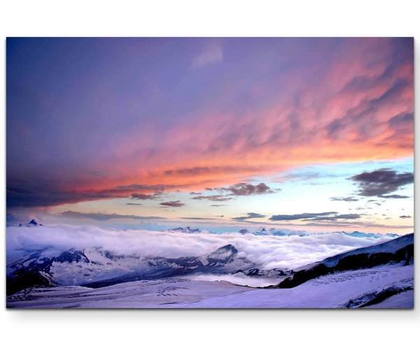 Kaukasus – Gebirgsformation - Leinwandbild