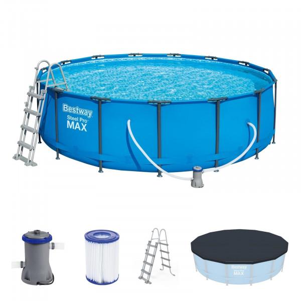 Bestway 56438 Steel Pro Max™ Frame Pool Komplett-Set Ø 457 x 122 cm komplett