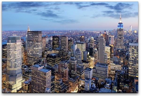New York in der Nacht Wandbild in verschiedenen Größen