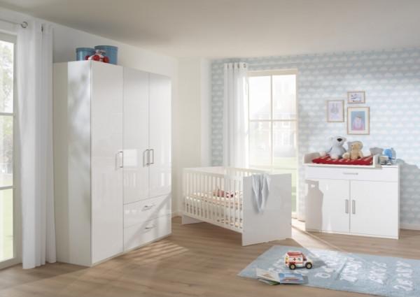Babyzimmer Glossy 4tlg. von Wellemöbel