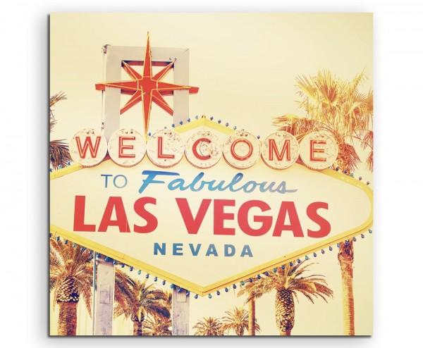Urbane Fotografie – Welcome to Las Vegas, Nevada auf Leinwand