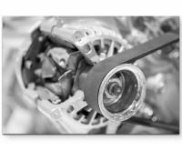 Auto – Makroaufnahme Motor - Leinwandbild