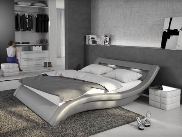 Bett Loox 180 x 200 cm Grau