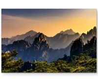 Anhui, China – Bergformation - Leinwandbild