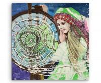 Gemälde eines mythologischen Mädchens auf Leinwand