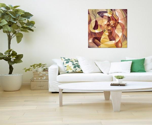80x80cm Gemälde Malerei Kunstwerk abstrakt