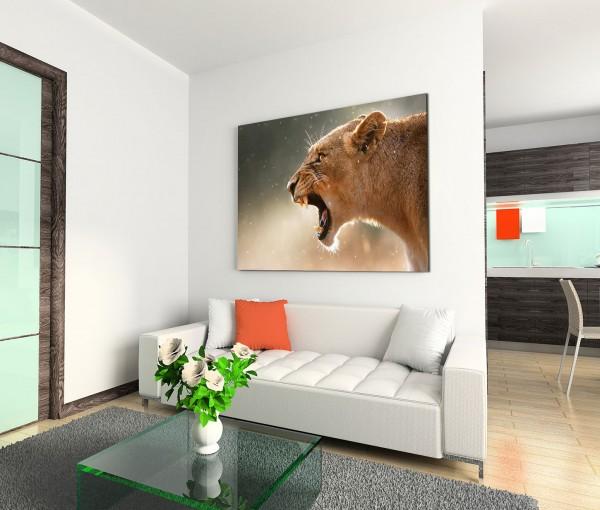 120x80cm Wandbild Löwin Nationalpark Afrika