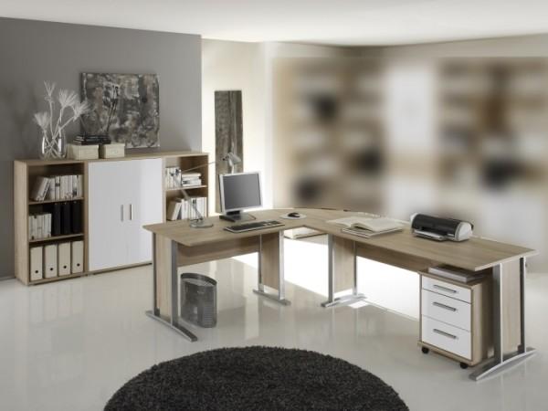 Büro Office Smart II 5 teilig Sonoma Weiß