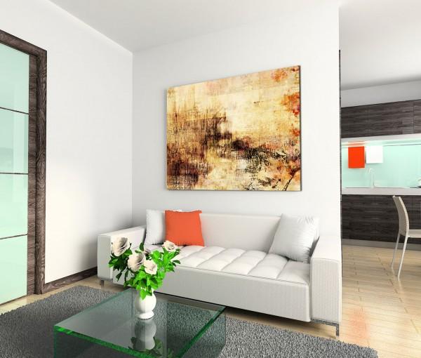 120x80cm Wandbild Kunstmalerei Acryl beige orange braun abstrakt