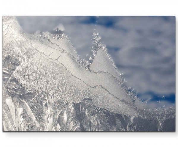 Eiskristalle am Fenster - Leinwandbild