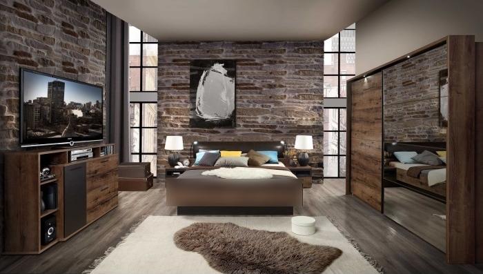 Schlafzimmer Jacky in Schlammeiche von Forte