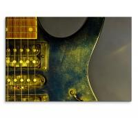 120x80cm Wandbild Elektrogitarre Nahaufnahme