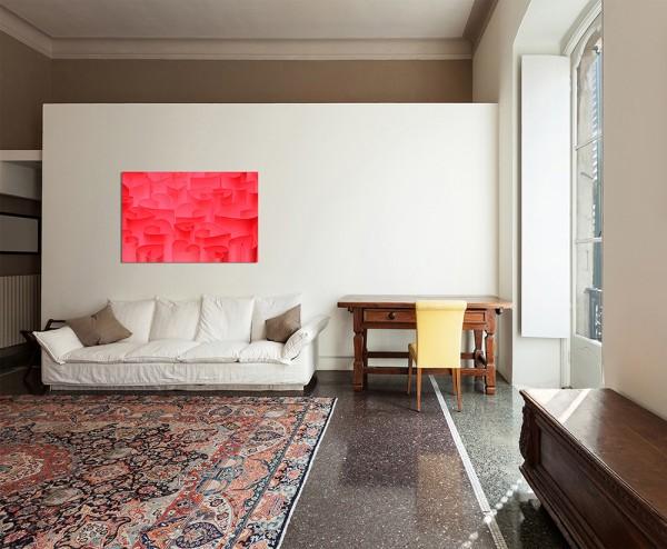 120x80cm Valentinstag Herzen rot Hintergrund