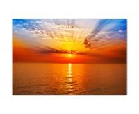 120x80cm Sonnenuntergang Wasser Himmel