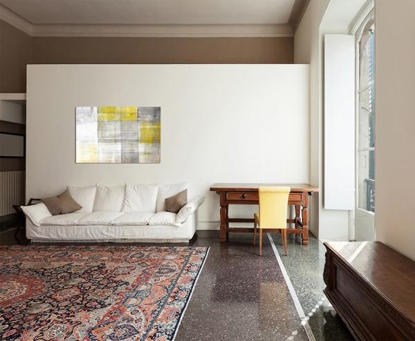 120x80cm Malerei Gemälde gelb/grau abstrakt