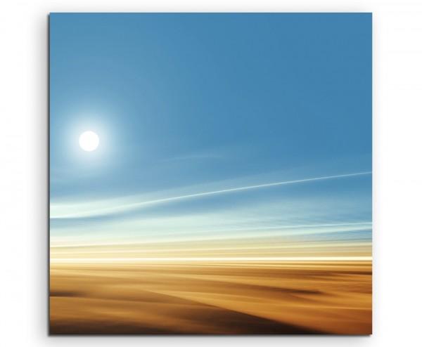 Illustration – Surreale Wüstenlandschaft mit Himmel auf Leinwand