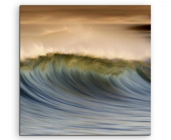 Stürmische See auf Leinwand exklusives Wandbild moderne Fotografie für ihre Wand in vielen Größen -