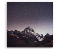 Landschaftsfotografie – Fantastischer Sternenhimmel auf Leinwand exklusives Wandbild moderne Fotogra