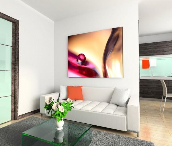 120x80cm Wandbild Marmor Glas rot gelb braun
