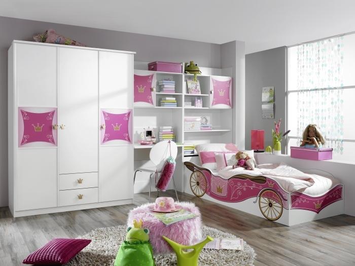 Kinderzimmer Kate von RAUCHmöbel in Weiß- Rosa 3 teiliges Superset