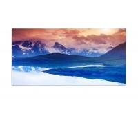 120x80cm Georgien Berge Schnee See Landschaft