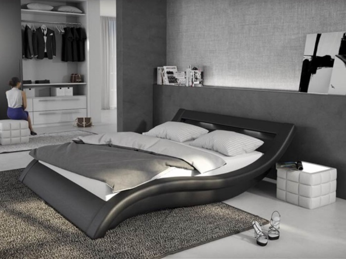 bett loox 180 x 200 cm schwarz m bel. Black Bedroom Furniture Sets. Home Design Ideas