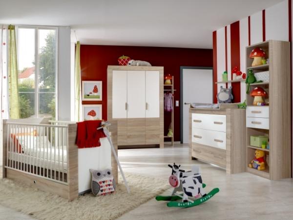 Babyzimmer Emily Weiß 6-teilig