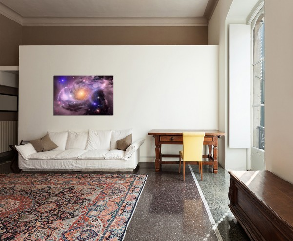 120x80cm - WANDBILD Sterne Weltall Galaxie